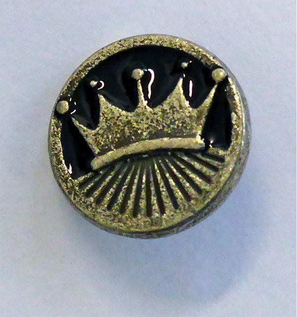 Silberne Krone Chunk Knopf
