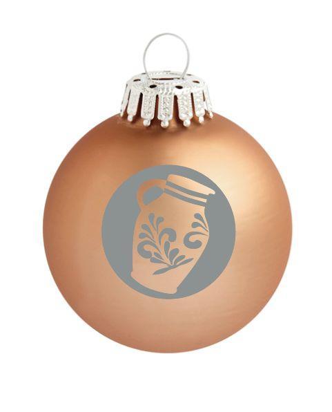 Seit Wann Gibt Es Christbaumkugeln.Christbaumkugeln Bembel Weihnachtsbaum Dekoration Farbe Bronze Matt