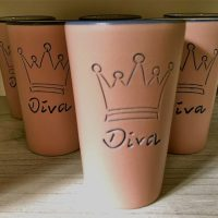 Diva Becher mit Krönchen