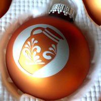 Bembel in Bronze - Weihnachtskugeln aus Frankfurt
