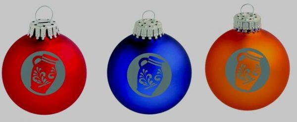 Bembel Design Weihnachtskugeln aus Frankfurt