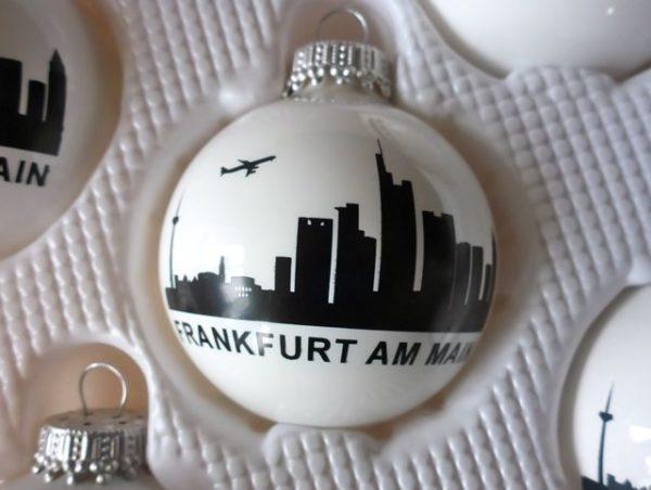 Frankfurt Skyline Weihnachtskugeln #Skyline
