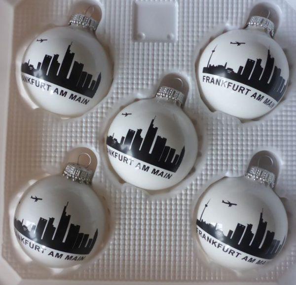 Frankfurt Skyline Geschenke #Weihnachtskugeln