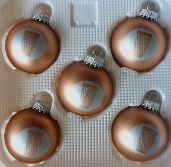 Apfelweinglas - Geripptes Frankfurter Weihnachtskugeln