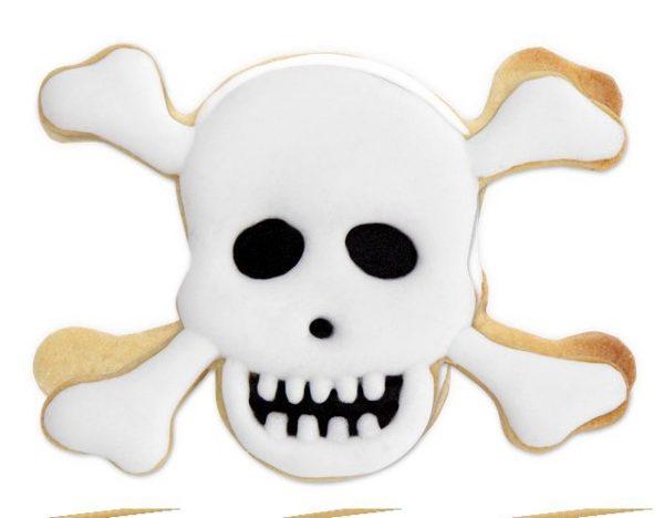 Ausstechform Totenkopfplötzchen #Halloween