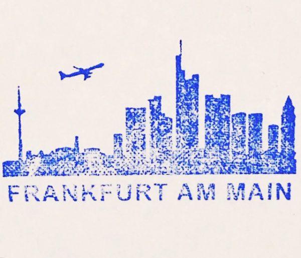 SKYLINE MOTIVE - Frankfurt Stempel