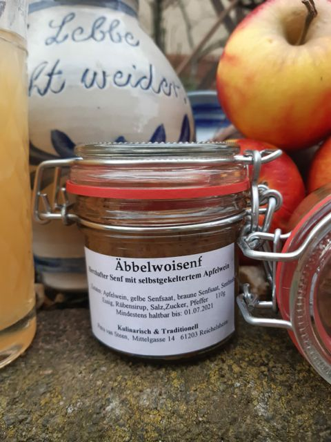 Hausgemachter Apfelweinsenf #FrankfurterSpezialitäten