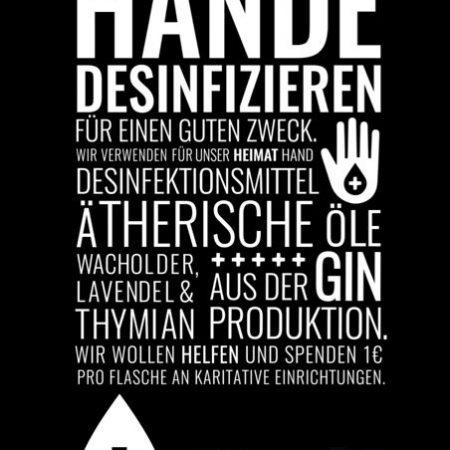 Heimat Gin Desinfektionsmittel