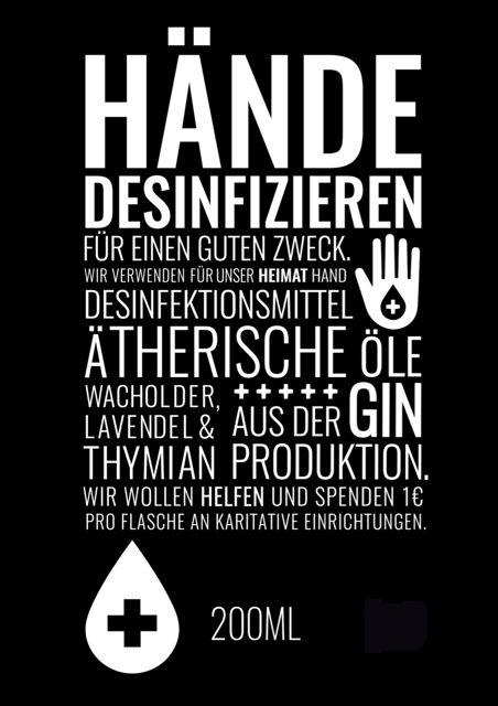 Handdesinfektionsmittel für einen guten Zweck mit ätherischen Ölen und Botanicals aus der Gin Produktion www.Bembeltown.de #Gin #Desinfektionsmittel #Handdesinfektionsmittel #Hygiene