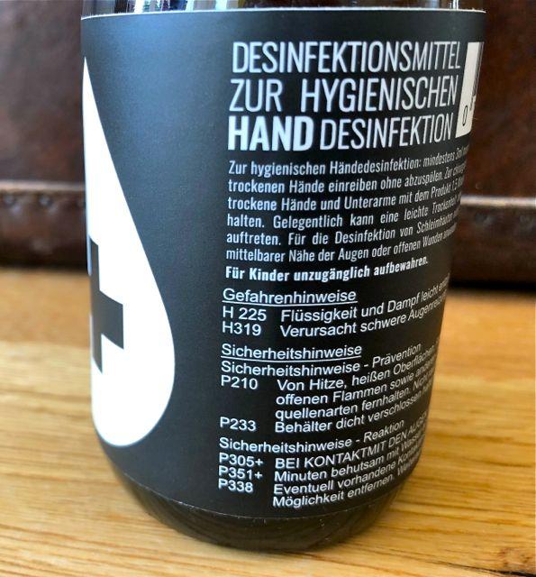 Desinfektionsmittel von HEIMAT GIN #Hygineprodukt