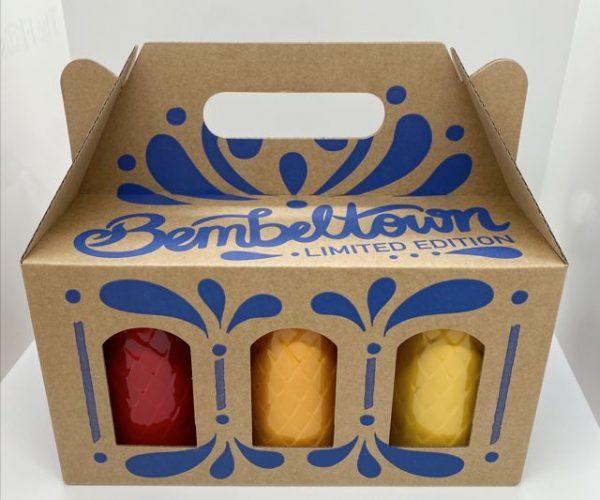 6-Pack Geschenkbox - Gerippte in Farbe