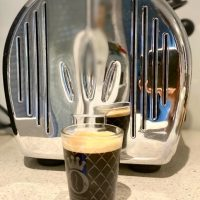 #Geripptes Espresso Glas #Scnapsglas